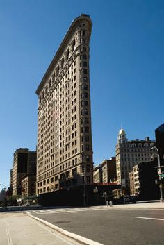 The Flatiron Building is a famous landmark of New York City. It was completed in 1902 and was one of the first buildings in the world to use a steel skeleton.new york buildings - Bing Images