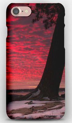 iPhone 7 Case Sunset, Snow, Tree