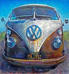 Happy Camper - Gordon Smedt - oil on canvas