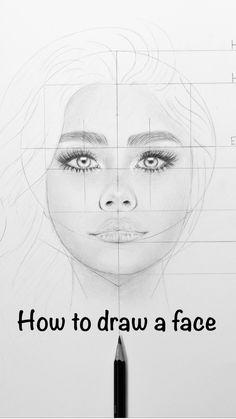 Art Drawings Beautiful, Art Drawings Sketches Simple, Pencil Art Drawings, Realistic Drawings, Portrait Sketches, Face Drawings, How To Draw Realistic, Drawing With Pencil, Portrait Drawing Tips