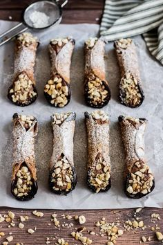 Chocolate Hazelnut Cannoli is a classic Italian pastry with a sweet cheese…