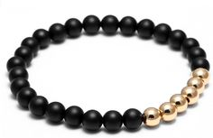 Men's Bracelet With Copper Plated Gold Accents