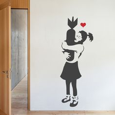 Banksy's Girl With A Bomb Wall Decal