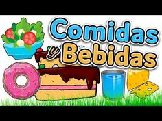 Food and drinks in Spanish - Learn Spanish for beginners and kids (comid. Spanish Phrases, Spanish Vocabulary, Spanish Words, Spanish Language Learning, How To Speak Spanish, Teaching Spanish, Learn Spanish, Teaching Kids, Spanish Classroom