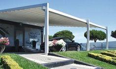 pergola aluminium qui sert de carport, un abri idéal pour votre voiture, suggestion très utile si vous n'avez pas de garage