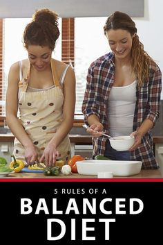 5 rules of a balanced diet