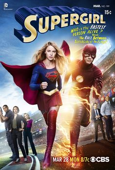Supergirl/The Flash crossover poster! Who's a fan of these TV shows?