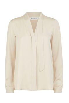 Everybody needs a soft silk blouse in their wardrobe; this Max Mara version has an air of elegant – yet professional – femininity. Silk blouse, £265, Max Mara at Harrods     - HarpersBAZAAR.co.uk
