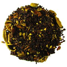 Organic Masala Chai – Full Leaf Tea Company  Certified Organic Black Tea from India is mixed with organic ginger, organic cinnamon, and organic cardamom infused with natural cinnamon and vanilla flavors. Spicy, bold, and sweet all in the same cup!