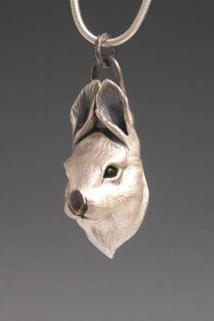 Bunny Jewelry, Wildlife Jewelry for the Animal Lover, Rabbit Pendant