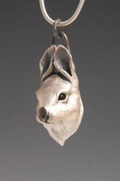 Bunny Jewelry, Wildlife Jewelry for the Animal Lover, Rabbit Pendant