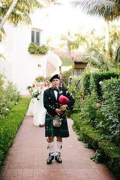 #SantaBarbara wedding ceremony at @FSSantaBarbara complete with bagpipes! #LuxBride