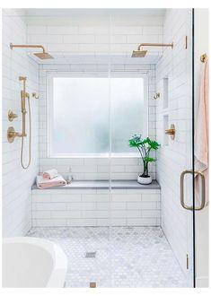 Master Bathroom Shower, Bathroom Renos, Bathroom Renovations, Small Bathroom Showers, Tile Bathrooms, Shower Over Bath, Bathroom Mirrors, Shower Base, Large Shower