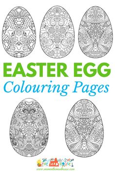 Five intricate Adult easter colouring pages. Download your five free easter egg printables, these decorative Easter egg colouring pages are perfect for adults and children alike. Colouring pages are great for mindfulness and relaxation.