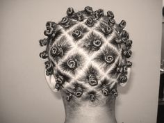 Bantu Knots on short relaxed hair is not as uncommon as you may think.