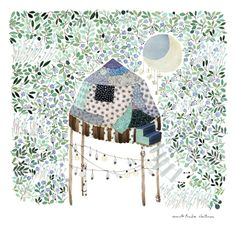 GARDEN OF MOON GAZER by  Anna Emeila Latinen