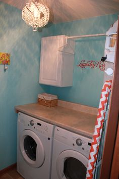 Organization for a small laundry space! Want the folding space over the washer/dryer
