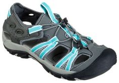 World Wide Sportsman Oasis III Water Shoes for Ladies - Grey/Turquoise - 6.5