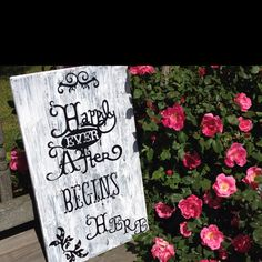 Wedding sign for @Tanya Stancil