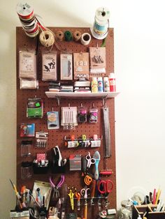 My Ten-Minute Pegboard! - Scrapbook.com- Quick organization tips for your craft room!