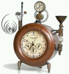 Steampunk Steampunk Gadgets, Steampunk Crafts, Steampunk Clock, Steampunk House, Steampunk Design, Steampunk Fashion, Clock Art, Clock Decor, Cool Clocks