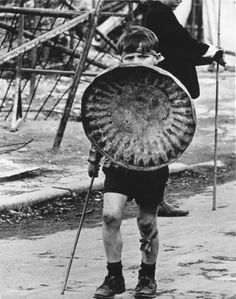 Child during a riot in Belfast (1970s)