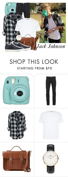 """#150 Jack Johnson"" by beautybluebear ❤ liked on Polyvore featuring Fujifilm, Paul Smith, Rails, The Cambridge Satchel Company, Daniel Wellington, Lanvin, men's fashion and menswear"