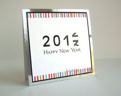 Clever idea for a New Year's card.