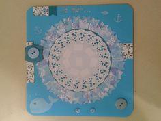 cadre photo bleu baleine mer scrap'enfant