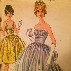 Vintage 1960's Dress Pattern McCall's 6570 Formal by LagunaLane