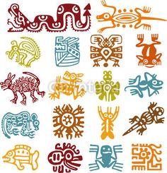 Set - símbolos mexicanos
