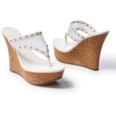 230dcd0d923 Venus Women s Mesh Wedge Sandal ( 39) ❤ liked on Polyvore featuring shoes