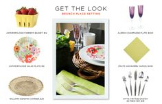 Brunch Place Settings: Get the Look #theeverygirl