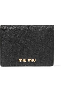 Miu Miu - Textured-leather Wallet - Black - one size