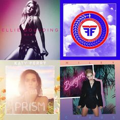 A playlist featuring Beyoncé, Flight Facilities, Miley Cyrus, and others