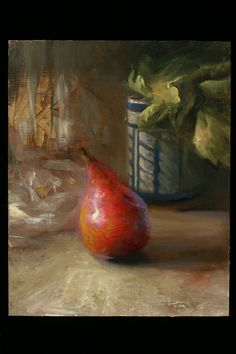 Juliette Aristides is a Seattle-based painter who seeks to understand and convey the human spirit through art. Founder and instructor of the Aristides Atelier… Juliette Aristides, Contemporary Artists, Food Art, Still Life, Illustration, Pear, Oil Paintings, Beading, Atelier