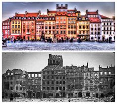 Old Town 1939/2009, Warsaw, Poland - It's amazing what dedication can do!