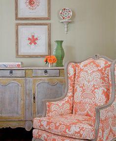 Quadrille Este Reverse chair by Honey Collins