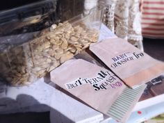 Homedried seeds in homemade bags!