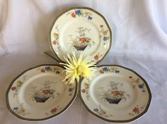 Vintage Theodore Haviland Limoges France fine china dinner plate Ganga pattern 1920 by lizfinestcollection on Etsy