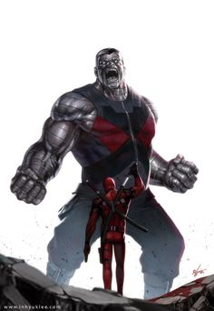 Colossus vs Deadpool by InHyuk Lee