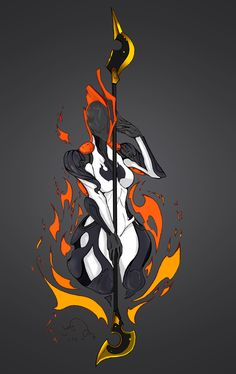 Amber Ember by Vlastika Female Character Design, Character Design References, Character Concept, Character Art, Concept Art, Steampunk Armor, Warframe Art, Video Game Art, Character Illustration