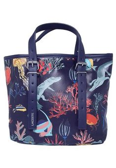 Bolsa Lacoste Fish Print Azul