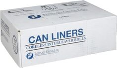 High-Density Can Liner, 36 X 60, 55-Gallon, 12 Micron, Black, 25/roll