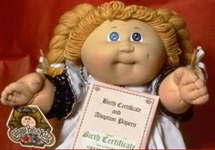 Cabbage patch doll with birth certificate...