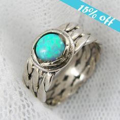 15 OFF  Opal ring. Exquisite braided opal by STarLighTstudiO3, $54.00