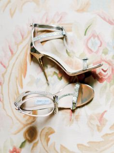 A Springtime French Chateau Wedding Bride Shoes, Wedding Shoes, Wedding Blog, Dream Wedding, Baskets, Special Occasion Shoes, Silver Bow, French Chateau, Jimmy Choo Shoes