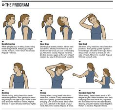 Methods for the diagnosis of neck pain. Treatments for neck pain but choosing the most suitable to your situation. How to relieve neck pain by exercises. Neck And Shoulder Pain, Neck And Back Pain, Neck And Shoulder Stretches, Sore Neck And Shoulders, Shoulder Muscles, Pinched Nerve In Neck, Neck Strengthening, Neck Pain Treatment, Neck Exercises