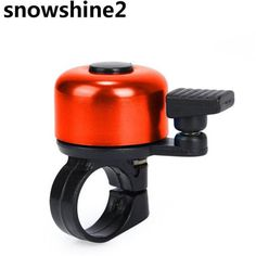 snowshine2 #3001 For Safety Cycling Bicycle Handlebar Metal Ring Black Bike Bell Horn Sound Alarm free shipping wholesale