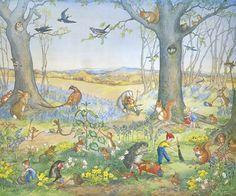 """Woodland Gardeners"" by Molly Brett (1912-1990)"